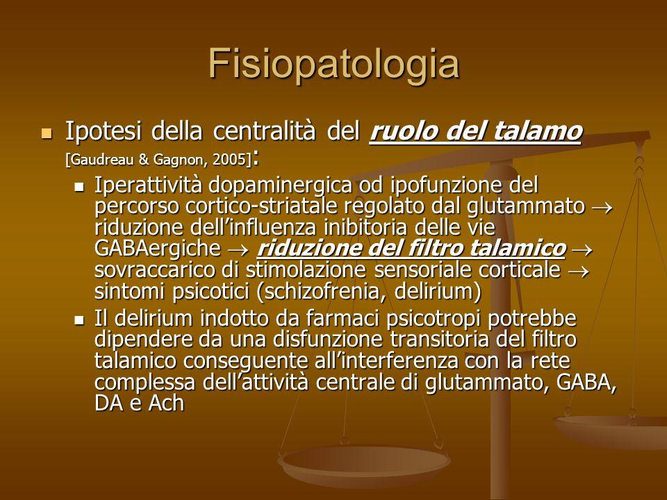 27/03/2017 Fisiopatologia. Ipotesi della centralità del ruolo del talamo [Gaudreau & Gagnon, 2005]: